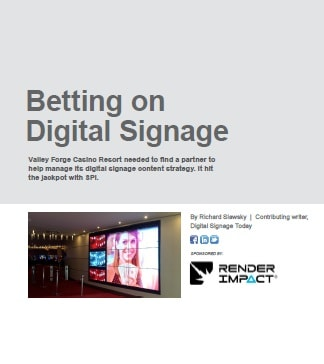 Betting on Digital Signage